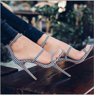 HIZCINTH 2018 Summer Shoes Woman Gladiator Sandals Navy Wind Peep-toe Hollow Out Sexy High-heeled Sandalias for Women's Shoes - Zamavi.com