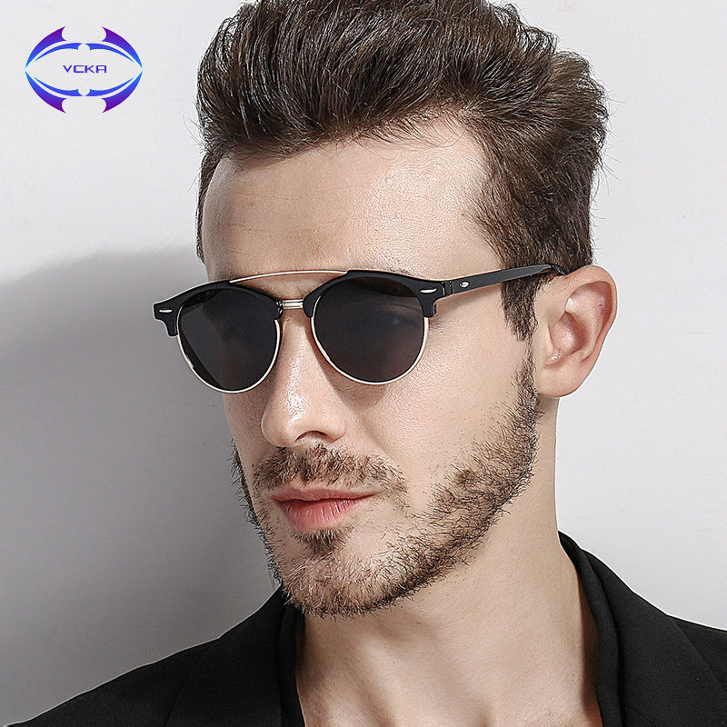 VCKA Round Polarized Sunglasses Women Brand Designer 2018 Luxury Vintage Sun Glasses Men mirror UV400 Shades oculos de sol