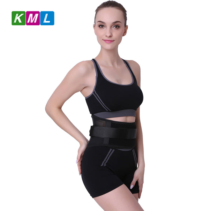 Black Waist Tummy Trimmer Slimming Belt Sweat Band Body Shaper Wrap Weight Loss Burn Fat Exercise For weight reduction HB29