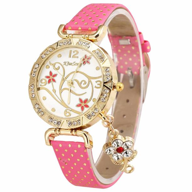 2018 Hot fashion creative watches Ladies Fashion Ladies WatchesWomen Orchid Pattern Bracelet Leather Diamond Quartz Wrist Watch - Zamavi.com