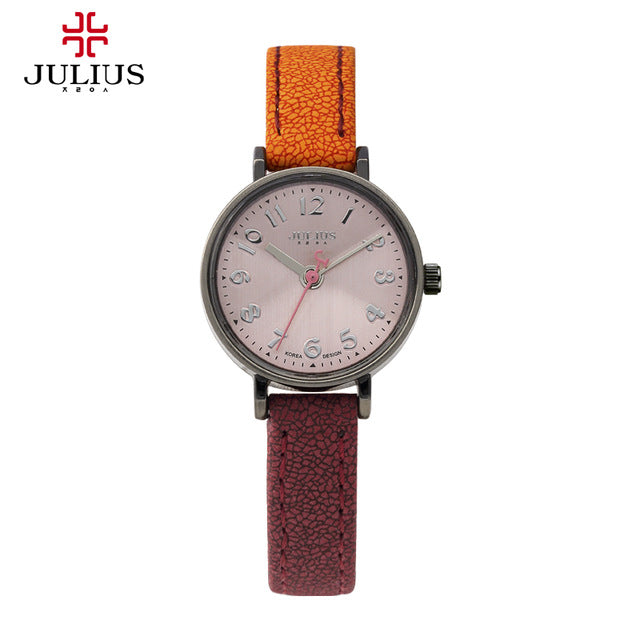 Julius Women's Watch Japan Quartz Hours Top Fashion Dress Bracelet Leather Retro Gradient Color Simple Girl Birthday Gift 855 - Zamavi.com