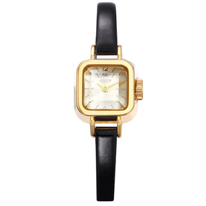 Lady Women's Watch Japan Quartz Hours Fine Fashion Dress Bracelet Leather Lovely Mini Candy Square Cute Girl Gift Julius Box - Zamavi.com