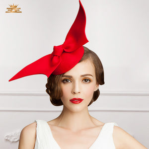 Female Fedoras Wool Cap British Style Red Pillbox Hat for Women 2017 Fashion 100% Pure Wool Retro Wedding Banquet Hats B-7532 - Zamavi.com