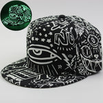 Graffiti Snapback Cap Hat Women Man Noctilucence Baseball Hat Luminous Hip Hop Cap diamond pokemon Hat casquette de gravity fall - Zamavi.com