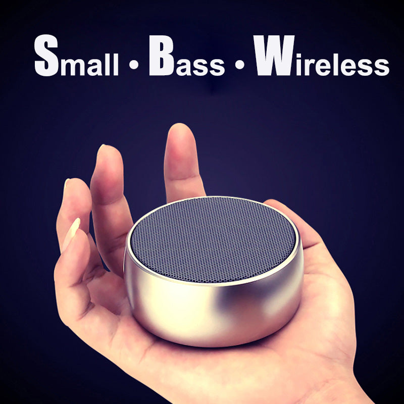 Super Bass Portable Bluetooth Speaker Metal Steel Mini Bluetooth Wireless Speakers with TF MP3 Player mobile phone hands free - Zamavi.com