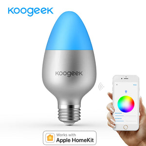 Koogeek E26 E27 8W Dimmable Wifi Light Smart Home LED Bulb 16 Million Colors for Apple HomeKit Siri Remote Control Only for IOS - Zamavi.com