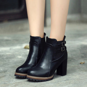 ankle boots ladies  Boot High Heels Ankle Boots Platform Shoes Women Shoes Autumn Winter   #NFA - Zamavi.com