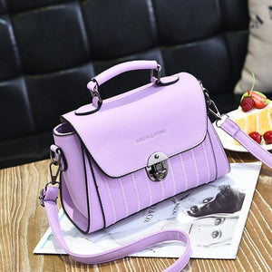 YINGPEI Brand Women PU leather Shoulder student Messenger Bag Top-Handle Women Fashion small bags Female  Designer