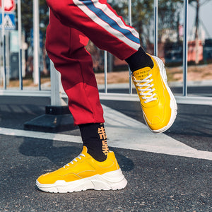 Phymonal Brand Yellow Running Shoes Men Sneakers Height Increasing Athletic Sport Shoes Comfortable Male Jogging New Trending 31