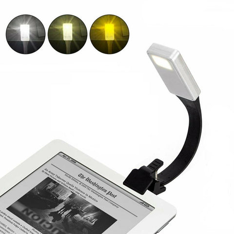 USB Rechargeable LED Flexible Clip On Book Night Reading Light