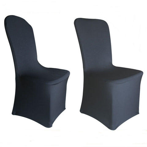 100 Pcs Black Wedding Party Banquet Spandex Stretch Chair Covers - Rewardeals