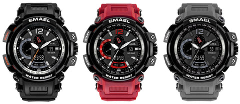 Dual Display Men's Sports Military Army Digital Waterproof Wristwatch Watch - Rewardeals
