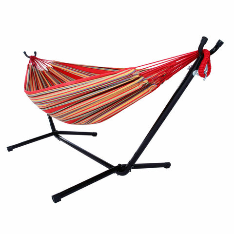 Double Hammock with Steel Stand and Portable Carrying Case - Rewardeals
