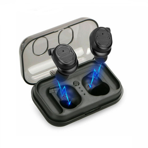 Bluetooth 5.0 Headphones Wireless Earbuds TWS True Touch Waterproof Mini Headset - Rewardeals