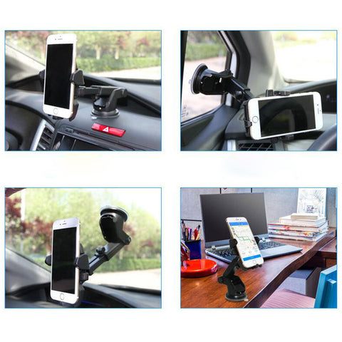 LAGGRA Universal 360° Car Windshield Mount for iPhone Samsung GPS - Rewardeals