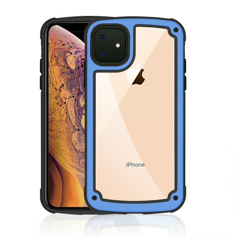 For Apple iPhone 11/Pro/Max/XS Max/XR/X Clear PC+TPU Bumper Case + Tempered Glass - Rewardeals