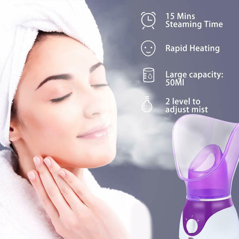 LAGGRA Spa Facial Face Mist Steamer Deep Cleanser Skin Care Tool
