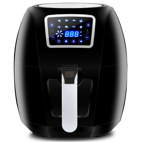 Powerful 1700W Extra Large Deep Air Fryer LCD Display Temperature Control 6.3Qt - Rewardeals