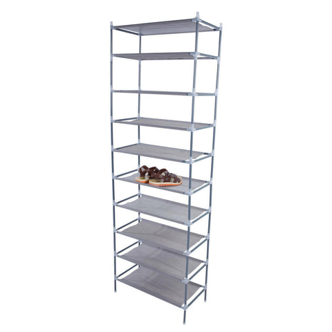10 Tier 30 pair Shoes Rack Stand Storage Closet Organizer - Rewardeals