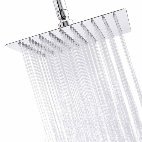 Chrome 16 inch Rainfall Square Stainless Steel Shower Head - Rewardeals
