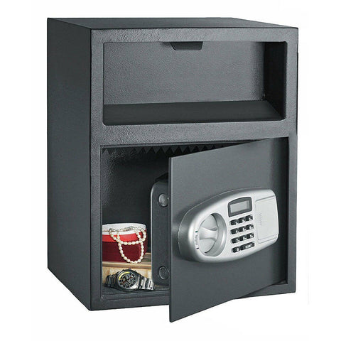 Large Front Load Cash Money Vault Lock Safe Box - Rewardeals
