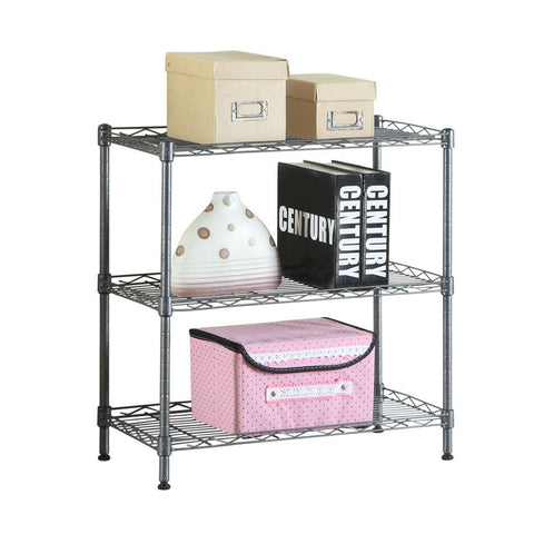 3 Tier Shelf Rack Office Kitchen Microwave Oven Storage Organizer - Rewardeals