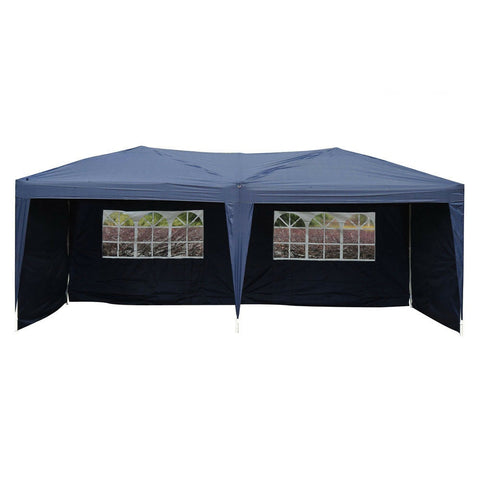10'X 20' Easy POP-UP Blue Folding Party Tent Gazebo Beach Garden Outdoor Canopy - Rewardeals