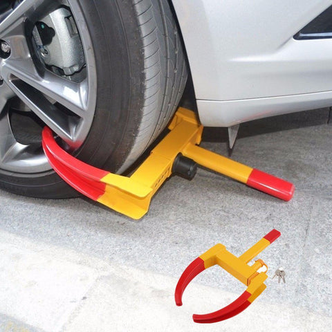 Anti-Theft Towing Auto Car Truck Wheel Lock Clamp with 3 Keys - Rewardeals