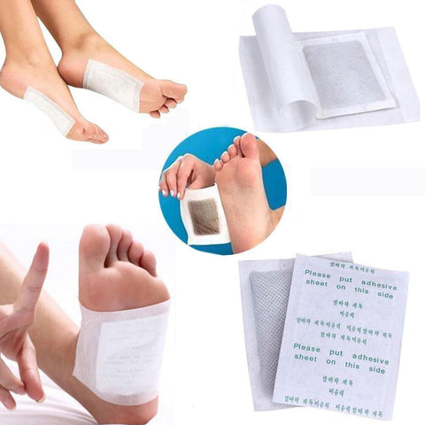 100 Detox Detoxify Toxins Foot Pads Patch with Adhesive - Rewardeals