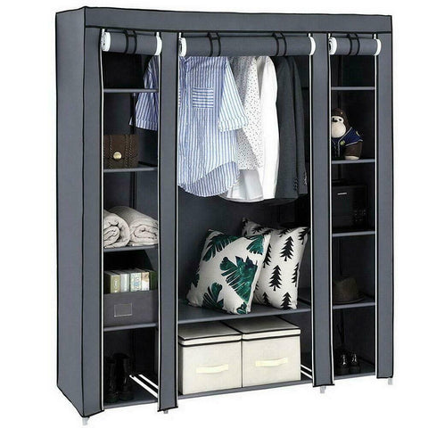 Durable Clothes Storage Organizer Shelf Portable Closet Wardrobe