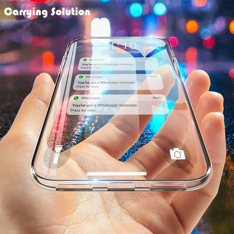 For iPhone 7 8 XS MAX XR 11 12 Mini Pro Crystal Clear Case Transparent Soft TPU