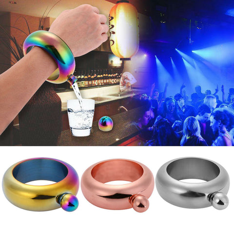 Laggra Alcohol Liquor Jewelry Bracelet Bangle Flask - Rewardeals