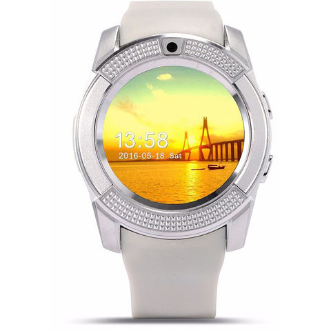 Newest Pedometer Camera Text Call Touch Screen Smart Watch for IOS & Android