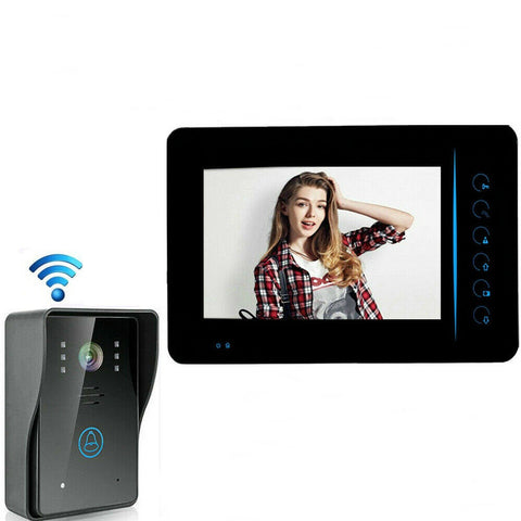 "Smart 7"" Color LCD Display Visual Camera Intercom Video Door Phone Doorbell System - Rewardeals"