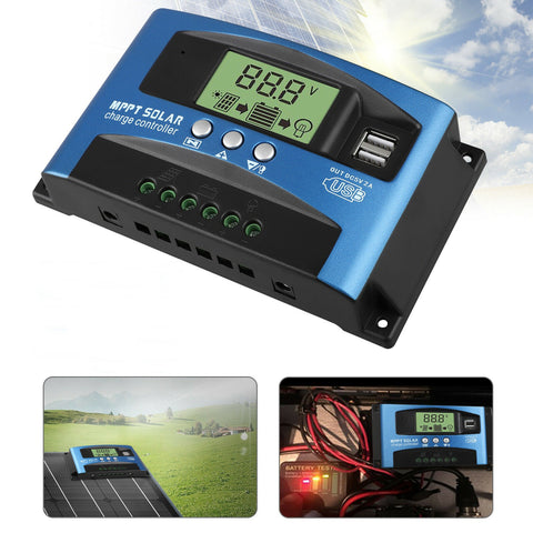 100A MPPT Solar Panel Regulator Charge Controller 12V/24V Auto Focus Tracking