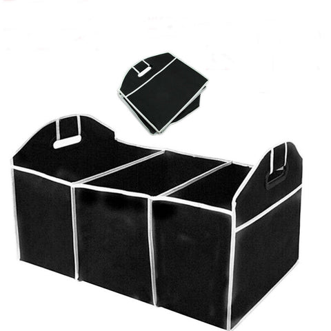Portable Collapsible Folding Flat Trunk Auto Organizer for Car SUV Truck Van - Rewardeals
