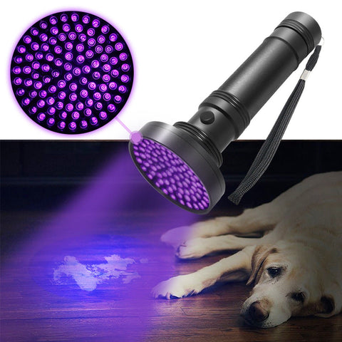 100 LED UV Ultraviolet Inspection Blacklight Flashlight Torch Light - Rewardeals