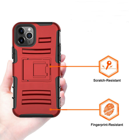 For iPhone 11 / 11 Pro Max Case Shockproof Belt Clip Phone Cover With Kickstand - Rewardeals