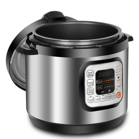 Powerful 6 Qt Family Electric Pressure Cooker Fast Cooking - Rewardeals