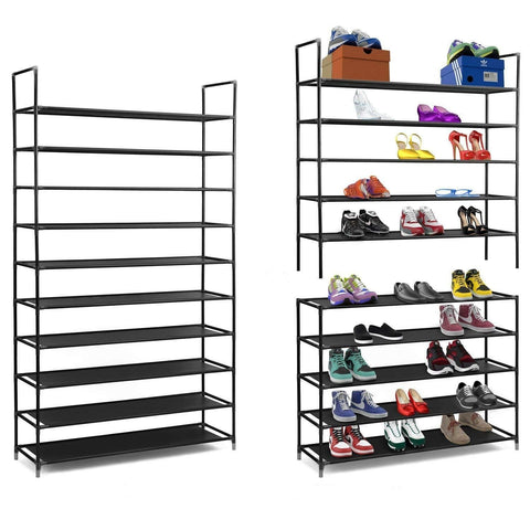 10 Tier Large Capacity Storage Shelves Shoe Rack Organizer - Rewardeals