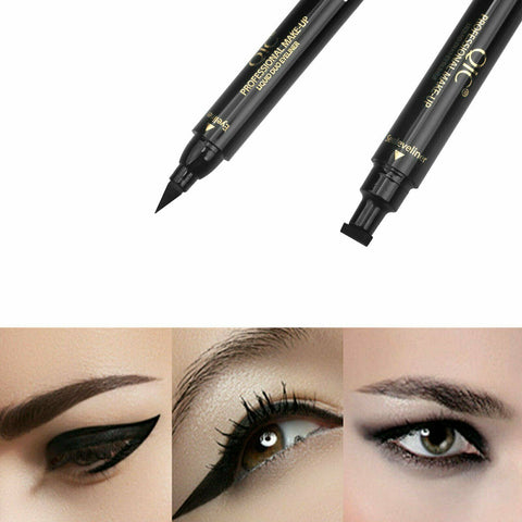2 in 1 Winged Waterproof Cosmetic Stamp Makeup Eyeliner