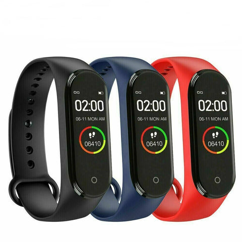 L418 Heart Rate Blood Pressure Monitor Tracker Fitness Smart Watch Band Wristband