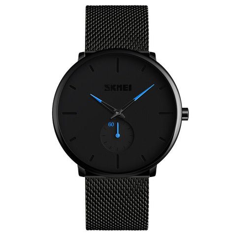 Men's Casual Simple Style Quartz Watches Stainless Steel Band Analog Wrist Watch - Rewardeals