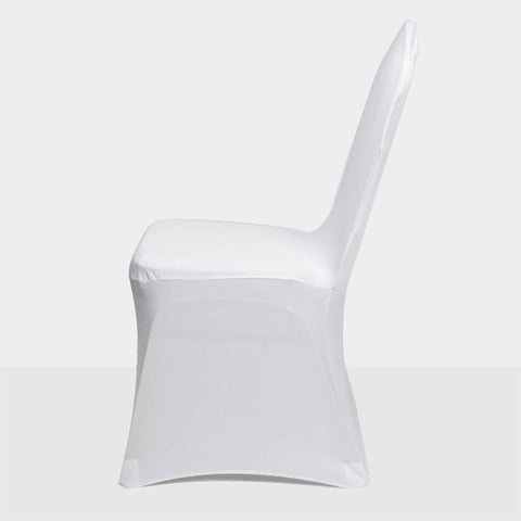 100 Pcs White Wedding Party Banquet Spandex Stretch Chair Covers - Rewardeals