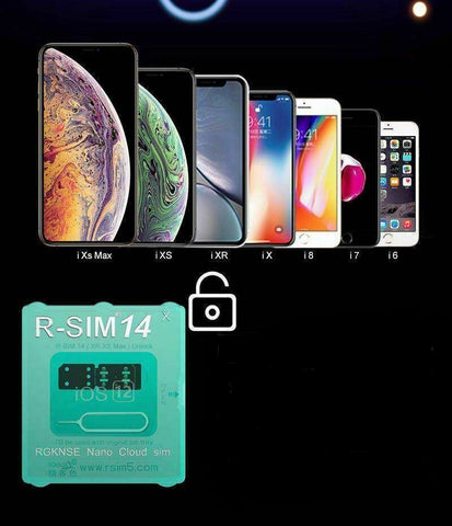 RSIM14 12 R-SIM Nano Unlock Card for iPhone XS MAX/XR/XS/8/7/6 4G iOS - Rewardeals