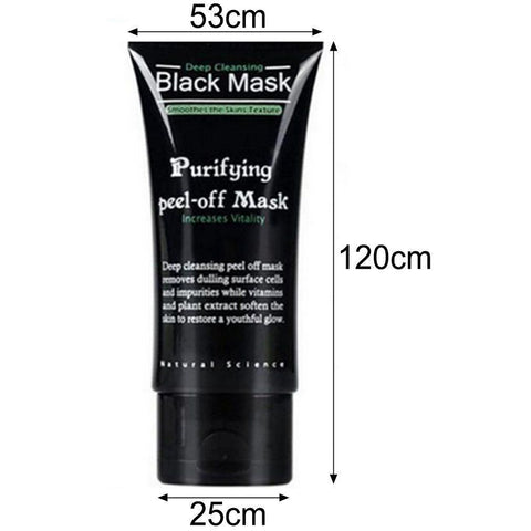 Deep Cleansing Acne Blackhead Remover Black Mud Purifying Peel off Face Mask - Rewardeals