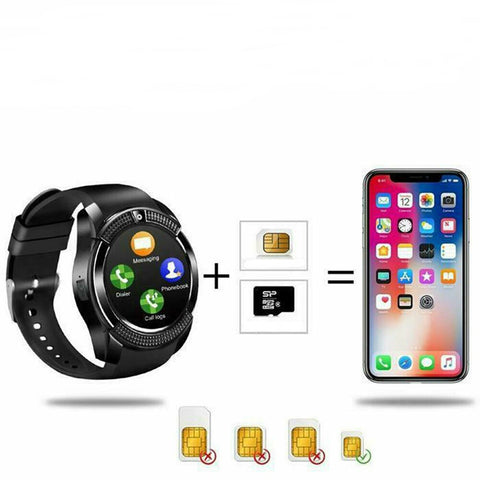 LV422 Bluetooth SIM Slot Camera Phone Mate for iPhone Android Smart Watch