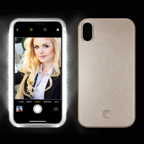 New Luxury LED Light Up Selfie Luminous Phone Case Cover for iPhone X - Rewardeals