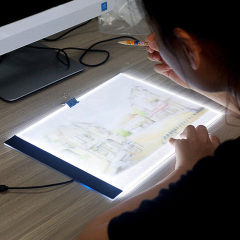 LED Tracing Light Box Board Art Tattoo A4 Drawing Pad Table Stencil Display - Rewardeals