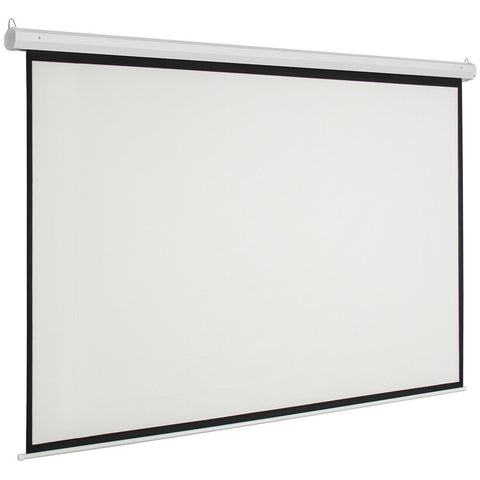 "92"" HD Electric Motorized Projector Screen 1080P 4K 3D with Remote - Rewardeals"
